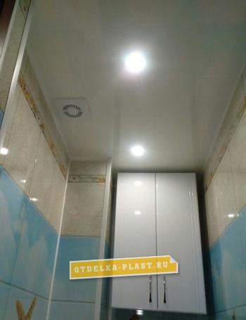 Потолочная панель белая матовая 3000x375x8