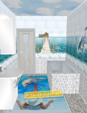 Ламинат для ванной АРТ «ONL-18»