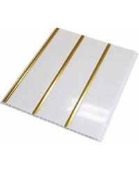 Пластиковый реечный потолок Золото