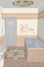 Ламинат для ванной АРТ «ONL-19»